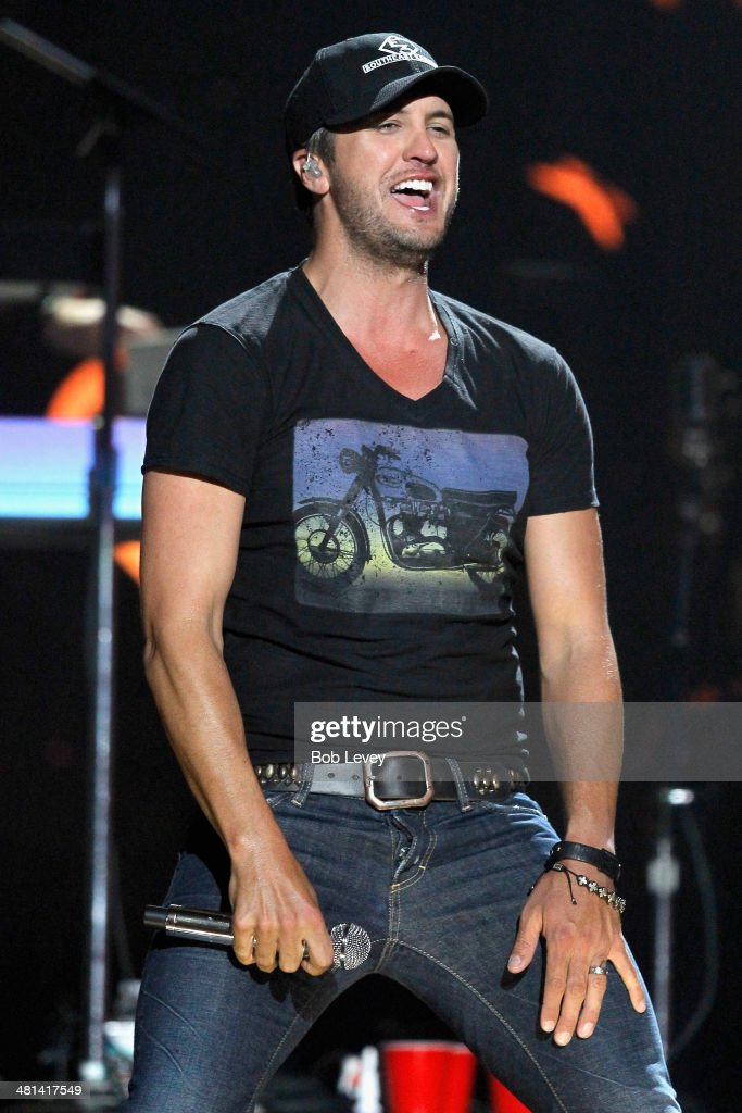 Recording artist Luke Bryan performs onstage during iHeartRadio Country Festival in Austin at the Frank Erwin Center on March 29, 2014 in Austin, Texas.