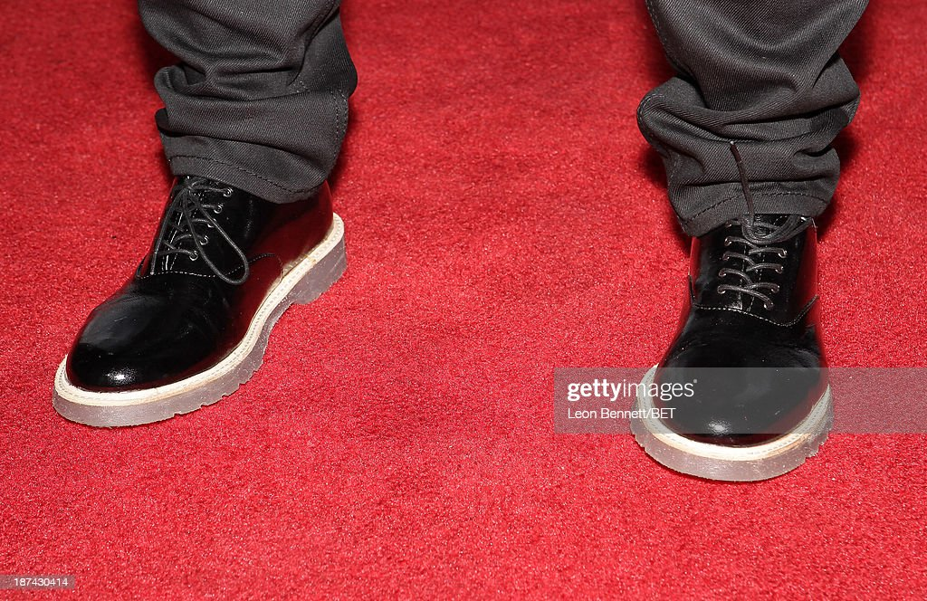 Recording artist Luke James (shoe detail) attends the Soul Train Awards 2013 at the Orleans Arena on November 8, 2013 in Las Vegas, Nevada.