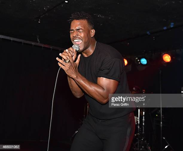 Recording artist Luke James performs onstage at The Loft at Center Stage on March 2 2015 in Atlanta Georgia