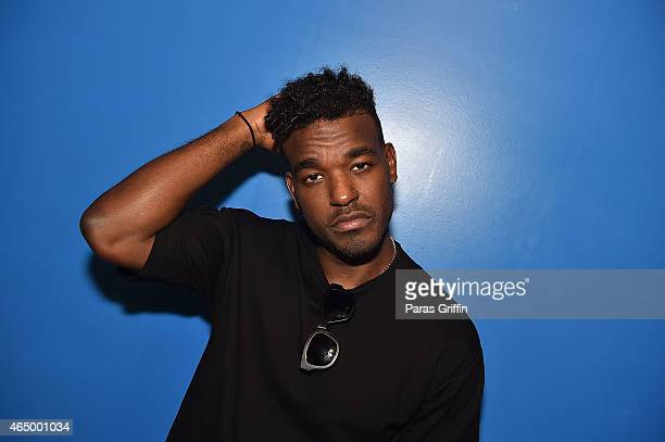 Recording artist Luke James seen backstage at Luke James In Concert at The Loft at Center Stage on March 2 2015 in Atlanta Georgia