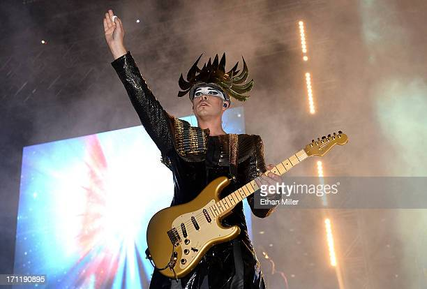 Recording artist Luke Steele of Empire of the Sun performs at the 17th annual Electric Daisy Carnival at Las Vegas Motor Speedway on June 22 2013 in...