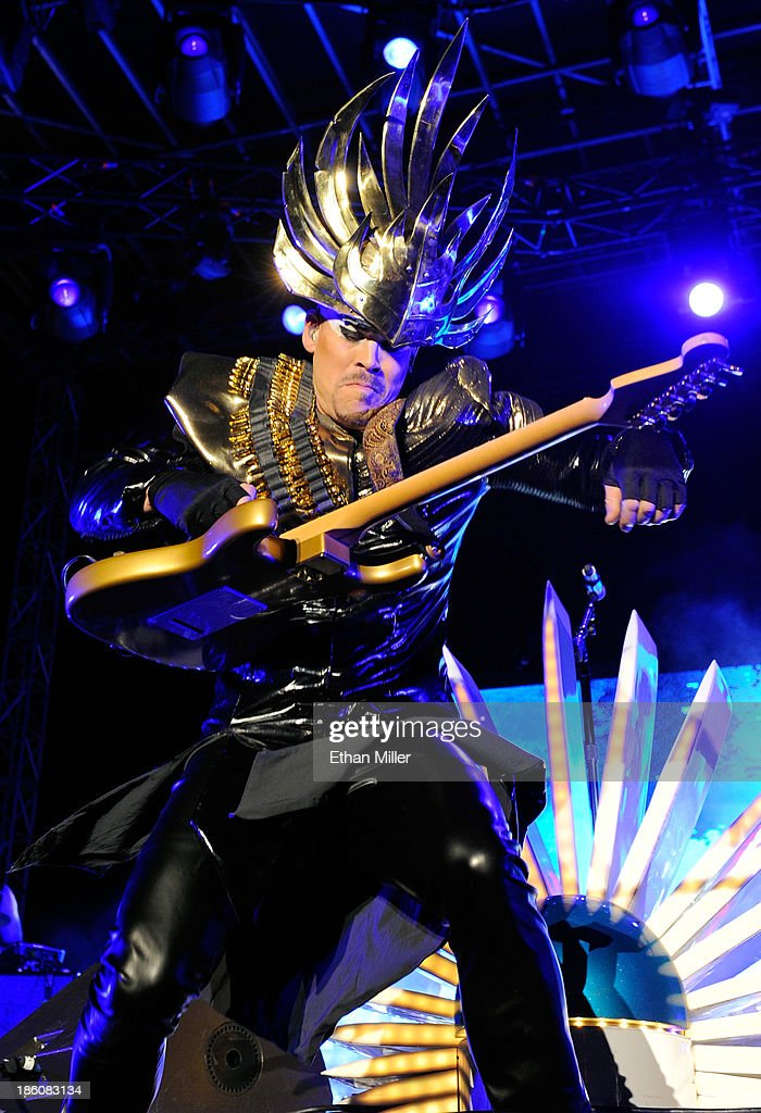 Recording artist Luke Steele of Empire of the Sun performs during the Life is Beautiful festival on October 27, 2013 in Las Vegas, Nevada.
