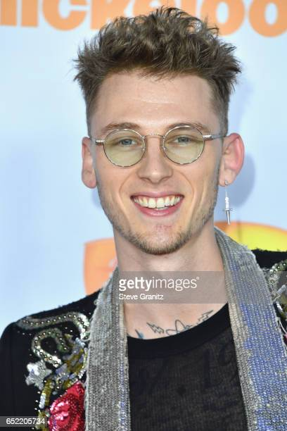 Recording artist Machine Gun Kelly at Nickelodeon's 2017 Kids' Choice Awards at USC Galen Center on March 11 2017 in Los Angeles California