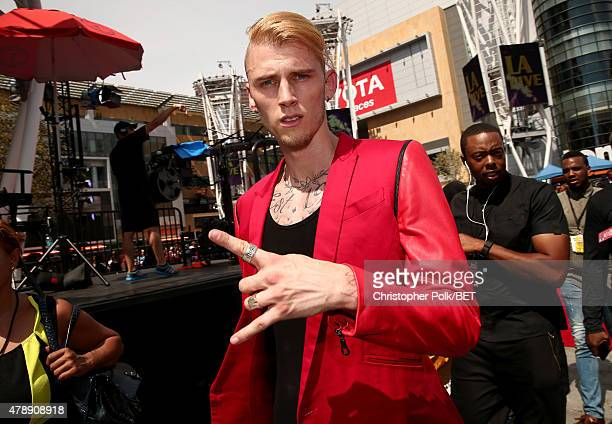 Recording artist Machine Gun Kelly attends the 2015 BET Awards at the Microsoft Theater on June 28 2015 in Los Angeles California