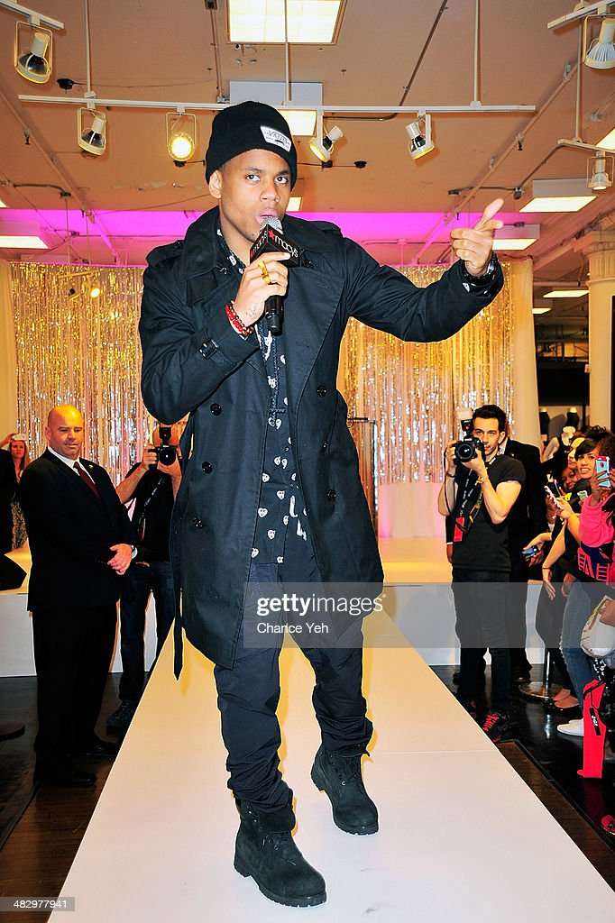 R&B recording artist Mack Wilds performs at Macy's Herald Square on April 5, 2014 in New York City.