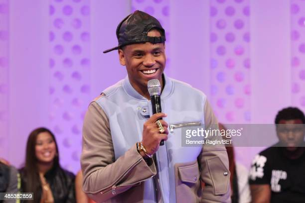 Recording artist Mack Wilds visits 106 Park at BET studio on April 16 2014 in New York City