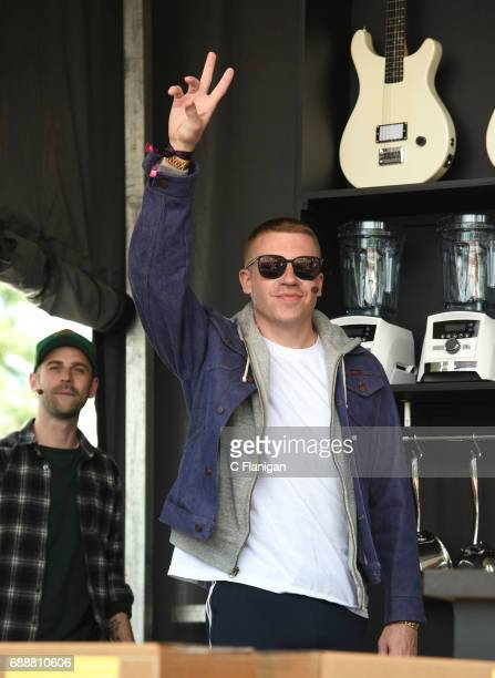 Recording artist Macklemore is seen during the 2017 BottleRock Napa Valley Festival on May 26 2017 in Napa California