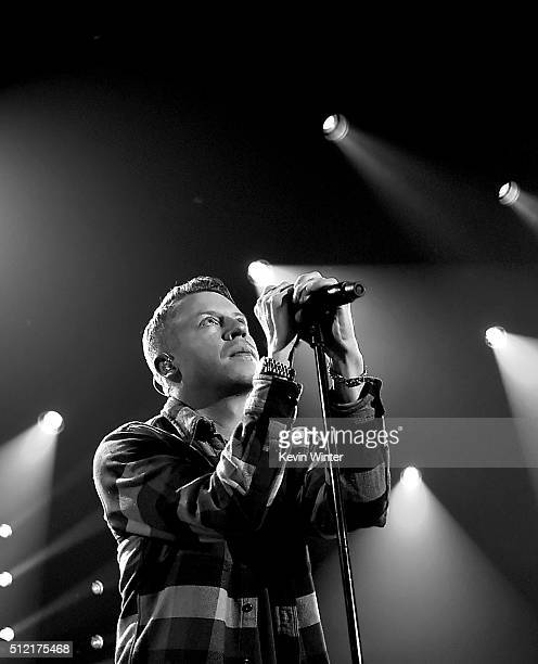 Recording artist Macklemore performs LIVE On The Honda Stage at the iHeartRadio Theater on February 24 2016 in Burbank California