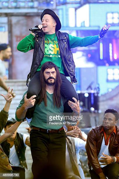 Recording artist Macklemore performs on the Pepsi Stage during the 2015 MTV Video Music Awards at The Orpheum Theatre on August 30 2015 in Los...