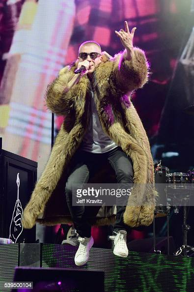 Recording artist Macklemore performs onstage at What Stage during Day 3 of the 2016 Bonnaroo Arts And Music Festival on June 9 2016 in Manchester...