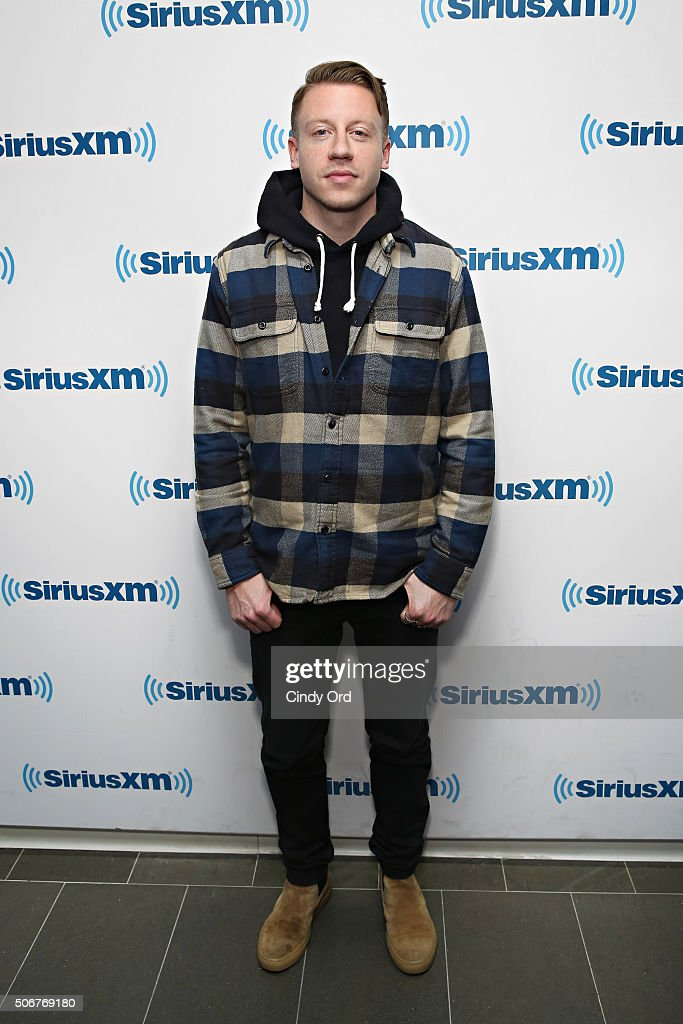 Recording artist <a gi-track='captionPersonalityLinkClicked' href=/galleries/search?phrase=Macklemore&family=editorial&specificpeople=7639427 ng-click='$event.stopPropagation()'>Macklemore</a> visits the SiriusXM Studios on January 25, 2016 in New York City.