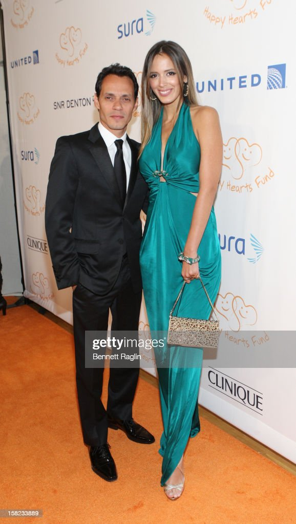 Recording artist Marc Anthony and model Shannon De Lima attends the 2012 Happy Hearts Fund Land Of Dreams: Mexico Gala at the Metropolitan Pavilion on December 11, 2012 in New York City.
