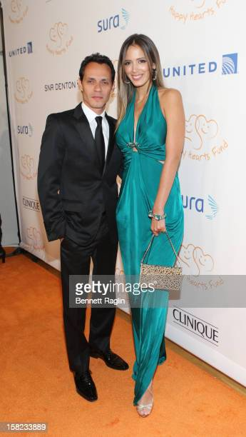 Recording artist Marc Anthony and model Shannon De Lima attends the 2012 Happy Hearts Fund Land Of Dreams Mexico Gala at the Metropolitan Pavilion on...