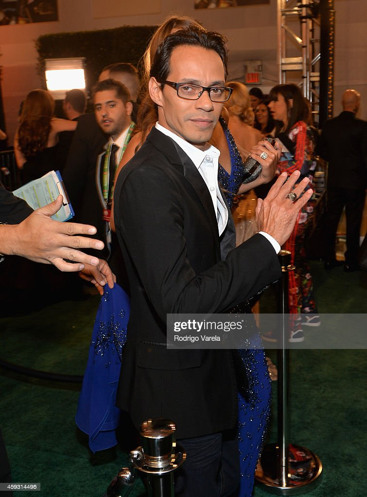 Recording artist <a gi-track='captionPersonalityLinkClicked' href=/galleries/search?phrase=Marc+Anthony&family=editorial&specificpeople=202544 ng-click='$event.stopPropagation()'>Marc Anthony</a> attends the 15th annual Latin GRAMMY Awards at the MGM Grand Garden Arena on November 20, 2014 in Las Vegas, Nevada.