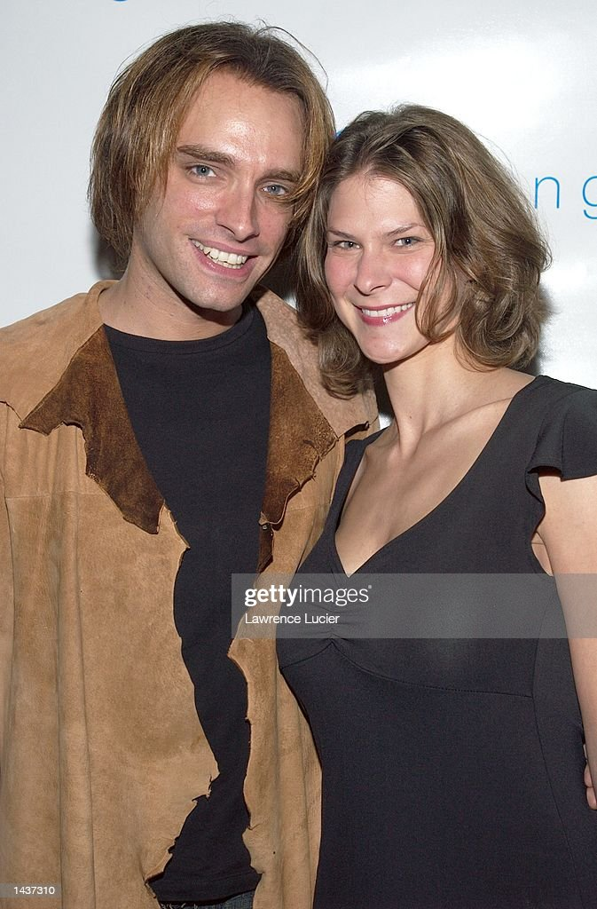 Recording artist Marc Copely and his friend Laura arrive at the launch of the book 'Who's Sorry Now' by Joe Pantoliano at the GQ Lounge September 28, 2002, in New York City.