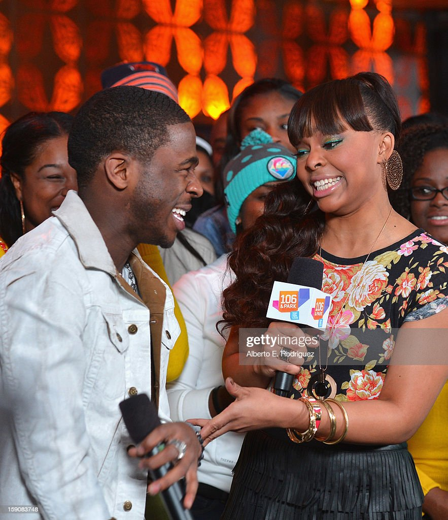 Recording artist Marcus Canty and TV host Paigion at a live taping of BET's '106& Park' at The Conga Room at L.A. Live on January 4, 2013 in Los Angeles, California.