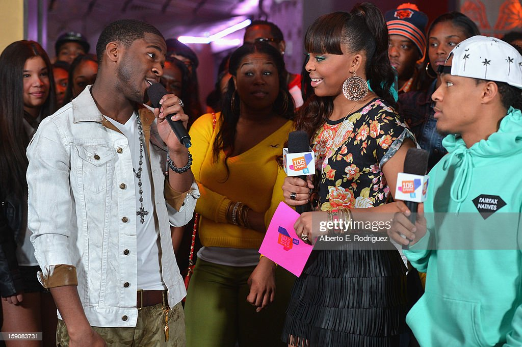 Recording artist Marcus Canty, TV host Pagion and TV host Bow Wow at a live taping of BET's '106& Park' at The Conga Room at L.A. Live on January 4, 2013 in Los Angeles, California.