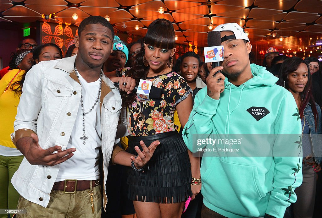 Recording artist Marcus Canty, TV host Pagion and TV host <a gi-track='captionPersonalityLinkClicked' href=/galleries/search?phrase=Bow+Wow&family=editorial&specificpeople=211211 ng-click='$event.stopPropagation()'>Bow Wow</a> at a live taping of BET's '106& Park' at The Conga Room at L.A. Live on January 4, 2013 in Los Angeles, California.