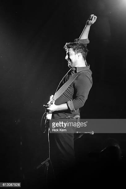 Recording artist Marcus Mumford of Mumford Sons performs on the Samsung Stage during day 3 at Austin City Limits Music Festival 2016 at Zilker Park...