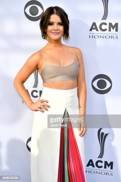 Recording Artist Maren Morris arrives at the 11th Annual ACM Honors at Ryman Auditorium on August 23 2017 in Nashville Tennessee