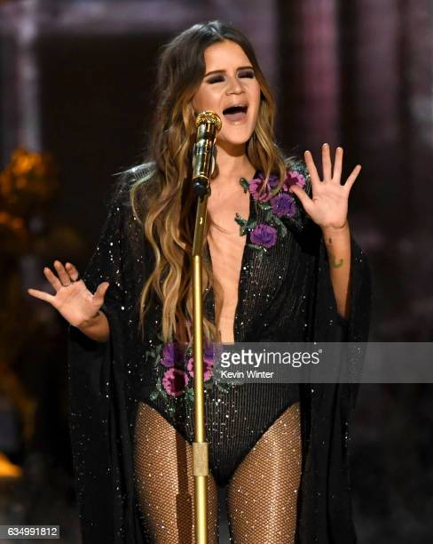 Recording artist Maren Morris performs onstage during The 59th GRAMMY Awards at STAPLES Center on February 12 2017 in Los Angeles California