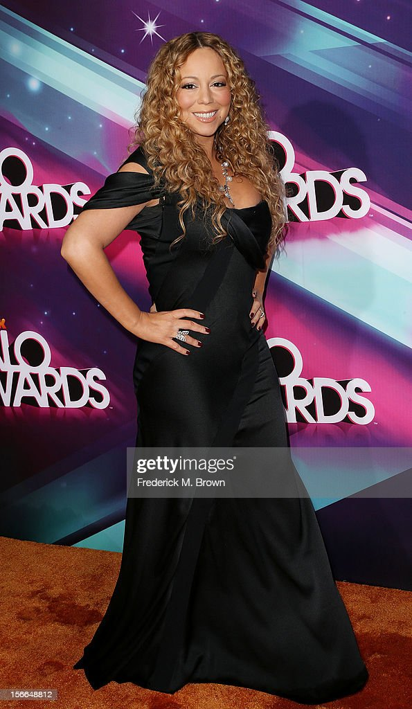 Recording artist <a gi-track='captionPersonalityLinkClicked' href=/galleries/search?phrase=Mariah+Carey&family=editorial&specificpeople=171647 ng-click='$event.stopPropagation()'>Mariah Carey</a> attends TeenNick HALO Awards at The Hollywood Palladium on November 17, 2012 in Los Angeles, California.