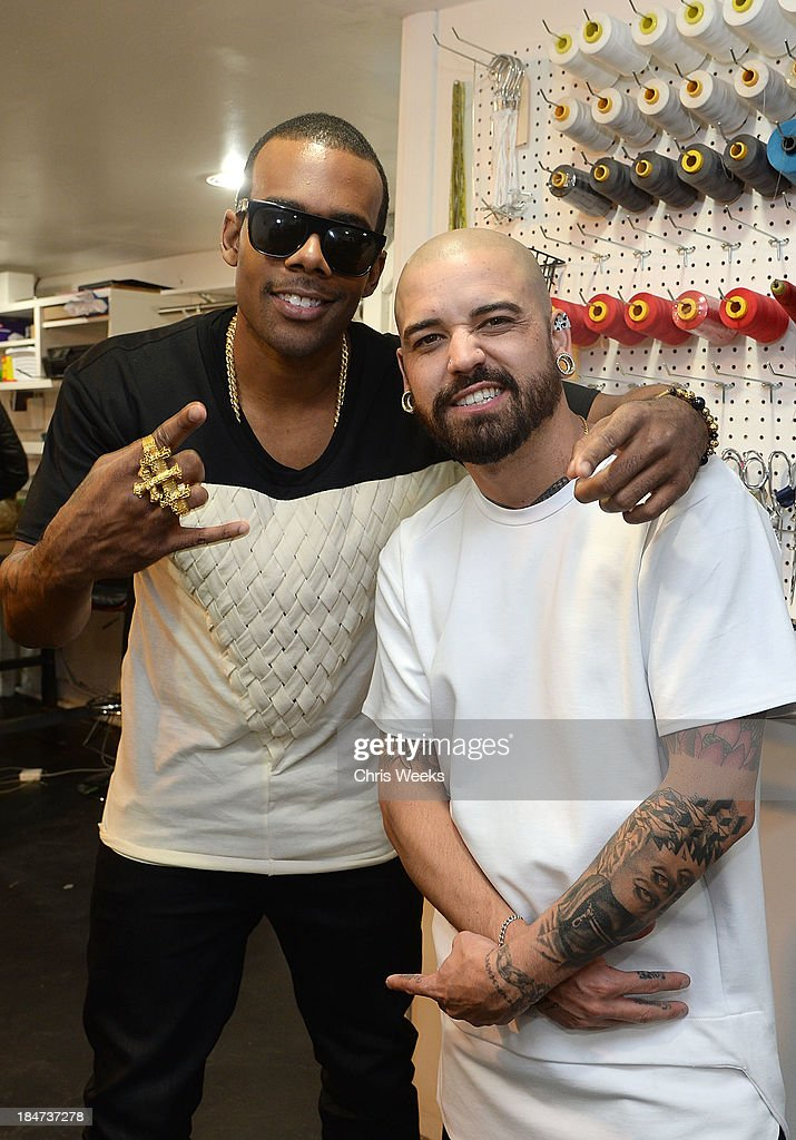 Recording artist Mario and designer Ashton Michael attend the Ashton Michael Spring 2014 Collection show on October 15, 2013 in Hollywood, California.