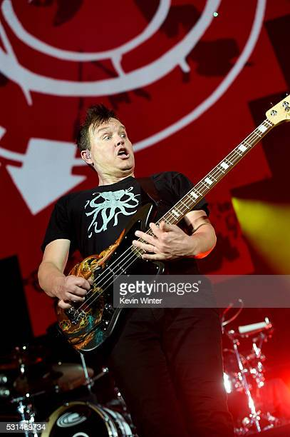 Recording artist Mark Hoppus of music group Blink182 performs onstage at KROQ Weenie Roast 2016 at Irvine Meadows Amphitheatre on May 14 2016 in...