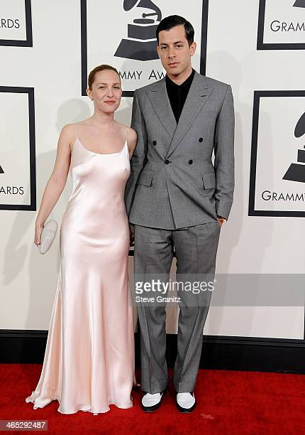 Recording artist Mark Ronson and Joséphine de La Baume attend the 56th GRAMMY Awards at Staples Center on January 26 2014 in Los Angeles California