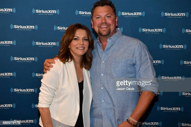 Recording Artist Martina McBride and SiriusXM Host Storme Warren arrive at SiriusXM's Town Hall With Martina McBride at SiriusXM Studios on May 22...