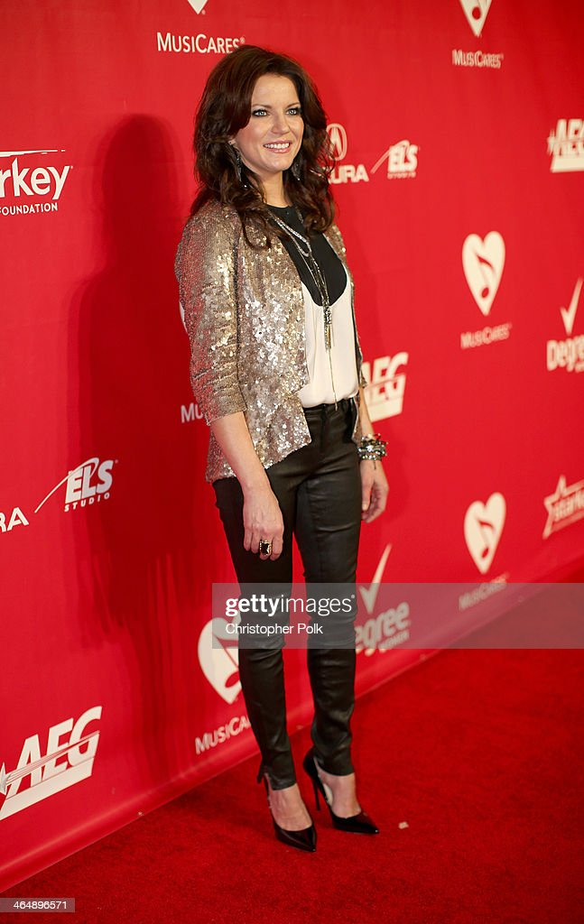 Recording artist <a gi-track='captionPersonalityLinkClicked' href=/galleries/search?phrase=Martina+McBride&family=editorial&specificpeople=204772 ng-click='$event.stopPropagation()'>Martina McBride</a> attends 2014 MusiCares Person Of The Year Honoring Carole King at Los Angeles Convention Center on January 24, 2014 in Los Angeles, California.