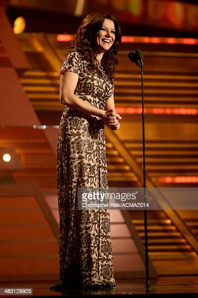 Recording artist Martina McBride speaks onstage during the 49th Annual Academy of Country Music Awards at the MGM Grand Garden Arena on April 6 2014...