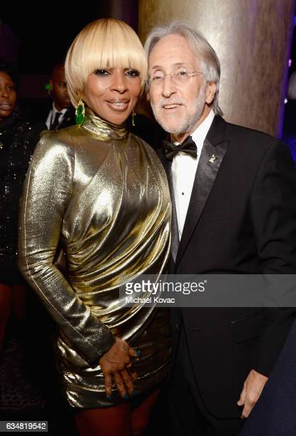 Recording artist Mary J Blige and President/CEO of The Recording Academy and GRAMMY Foundation President/CEO Neil Portnow attend PreGRAMMY Gala and...
