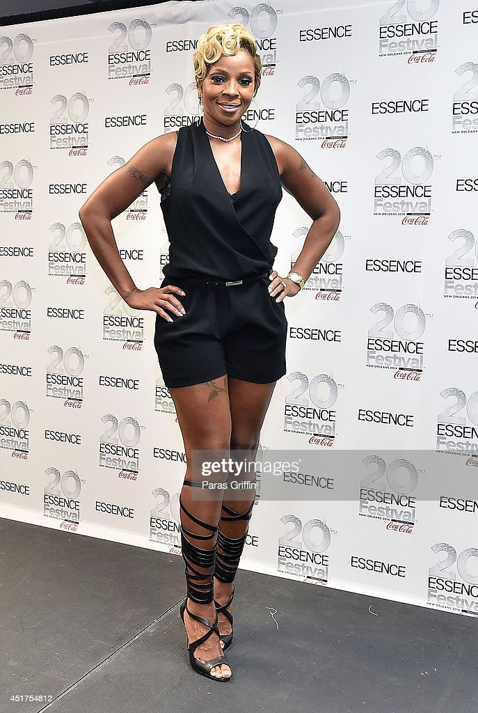 Recording artist Mary J Blige attends the 2014 Essence Music Festival on July 5 2014 in New Orleans Louisiana