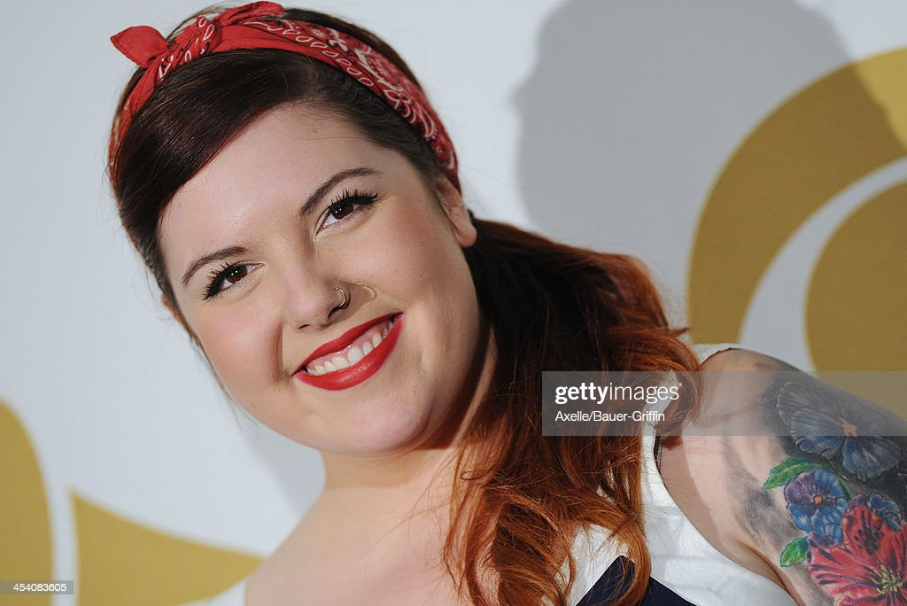 Recording artist Mary Lambert poses in the press room at The GRAMMY Nominations Concert Live! Countdown To Music's Biggest Night at Nokia Theatre L.A. Live on December 6, 2013 in Los Angeles, California.