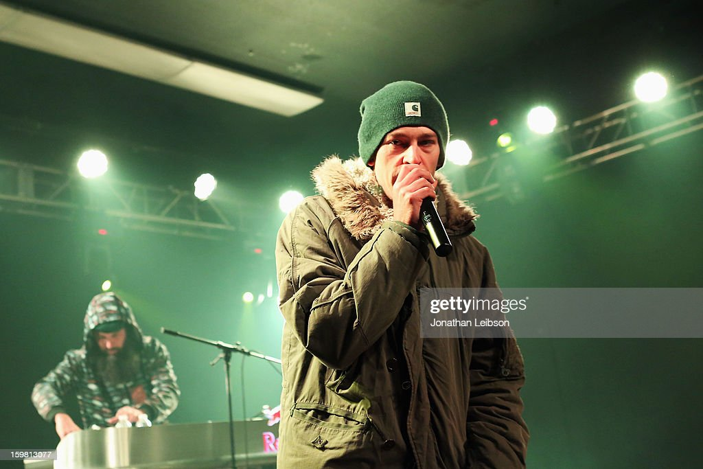 Recording Artist <a gi-track='captionPersonalityLinkClicked' href=/galleries/search?phrase=Matisyahu&family=editorial&specificpeople=537514 ng-click='$event.stopPropagation()'>Matisyahu</a> performs onstage at Star Bar on January 20, 2013 in Park City, Utah.
