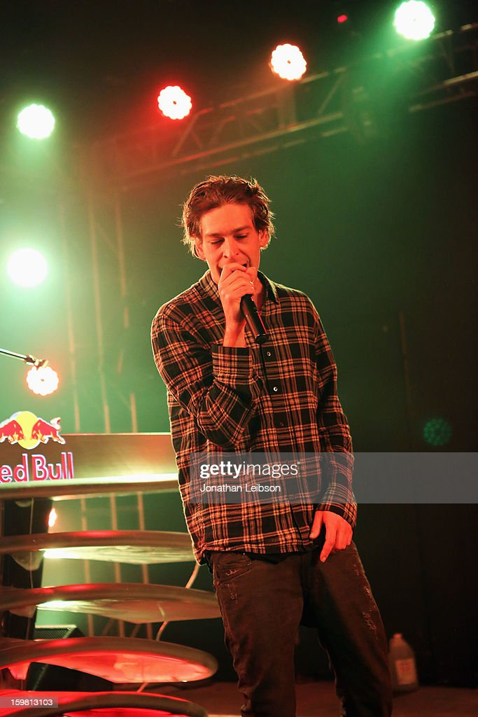 Recording Artist <a gi-track='captionPersonalityLinkClicked' href=/galleries/search?phrase=Matisyahu+-+Musicista&family=editorial&specificpeople=537514 ng-click='$event.stopPropagation()'>Matisyahu</a> performs onstage at Star Bar on January 20, 2013 in Park City, Utah.