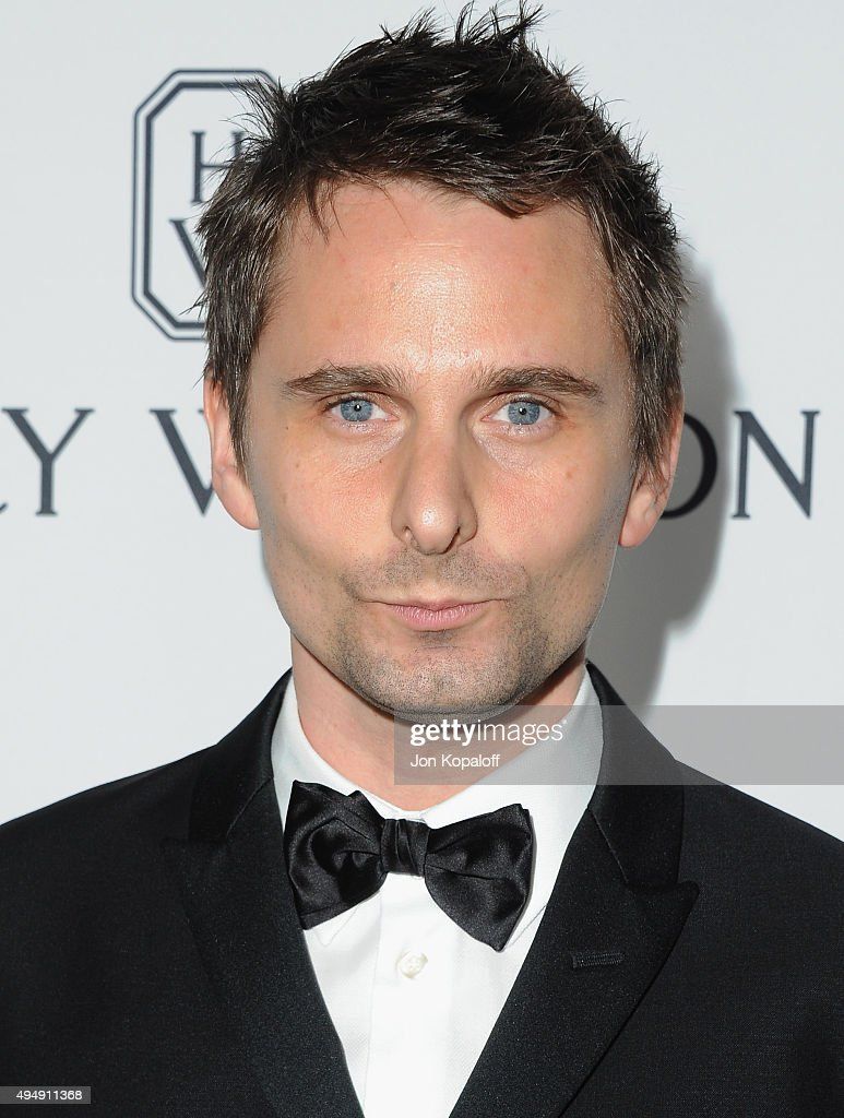 Recording artist <a gi-track='captionPersonalityLinkClicked' href=/galleries/search?phrase=Matthew+Bellamy&family=editorial&specificpeople=225046 ng-click='$event.stopPropagation()'>Matthew Bellamy</a> of Muse arrives at amfAR's Inspiration Gala Los Angeles at Milk Studios on October 29, 2015 in Hollywood, California.