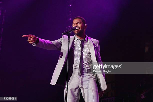 Recording artist Maxwell performs during the 2013 Essence Festival at the MercedesBenz Superdome on July 5 2013 in New Orleans Louisiana
