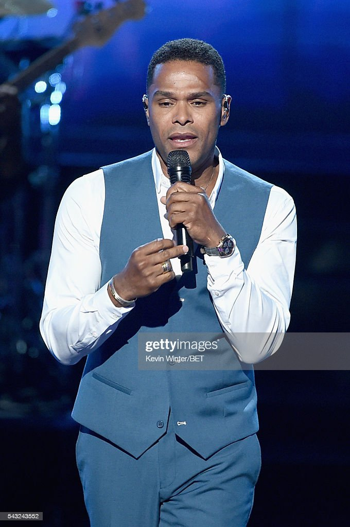 Recording artist Maxwell performs onstage during the 2016 BET Awards at the Microsoft Theater on June 26, 2016 in Los Angeles, California.