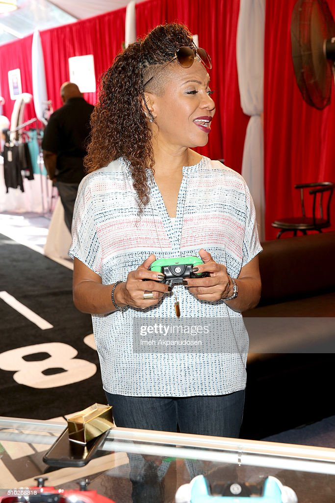 Recording artist <a gi-track='captionPersonalityLinkClicked' href=/galleries/search?phrase=MC+Lyte&family=editorial&specificpeople=226807 ng-click='$event.stopPropagation()'>MC Lyte</a> attends the GRAMMY Gift Lounge during The 58th GRAMMY Awards at Staples Center on February 14, 2016 in Los Angeles, California.