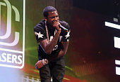Recording artist Meek Mill performs during The Pinkprint Tour at Barclays Center of Brooklyn on July 26 2015 in New York City