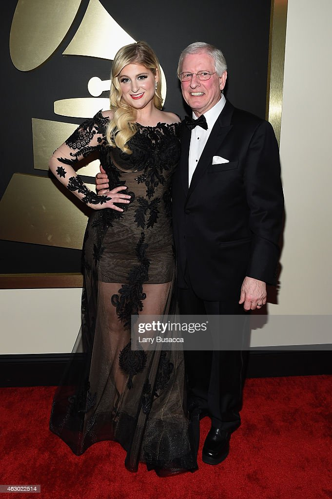 Recording Artist Meghan Trainor and father, Gary Trainor attend The 57th Annual GRAMMY Awards at the STAPLES Center on February 8, 2015 in Los Angeles, California.
