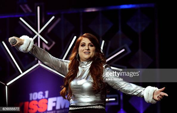 Recording artist Meghan Trainor performs onstage at 1061 KISS FM's Jingle Ball 2016 presented by Capital One at American Airlines Center on November...