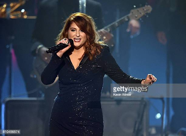 Recording artist Meghan Trainor performs onstage during The 58th GRAMMY Awards at Staples Center on February 15 2016 in Los Angeles California