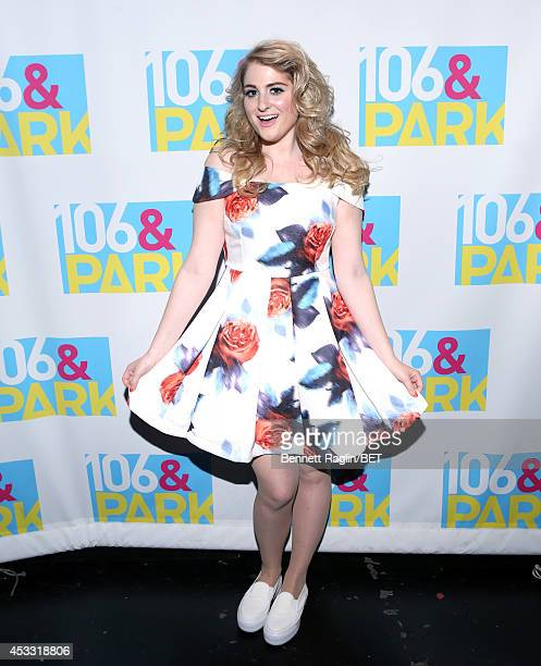 Recording artist Meghan Trainor visits 106 Park at BET studio on August 6 2014 in New York City