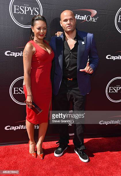Recording artist Mel B and producer Stephen Belafonte attend The 2015 ESPYS at Microsoft Theater on July 15 2015 in Los Angeles California