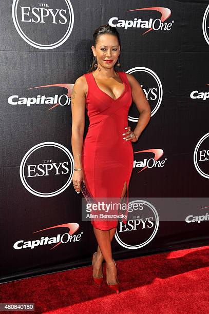 Recording artist Mel B arrives at the 2015 ESPYS at Microsoft Theater on July 15 2015 in Los Angeles California