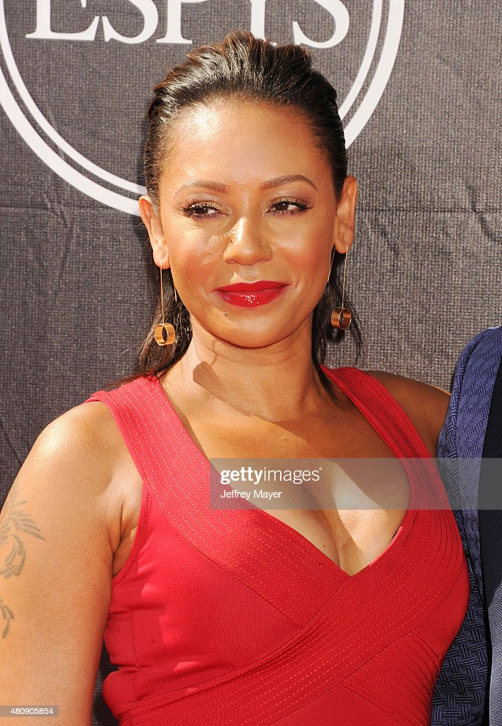 Recording artist Mel B. arrives at the The 2015 ESPYS at Microsoft Theater on July 15, 2015 in Los Angeles, California.