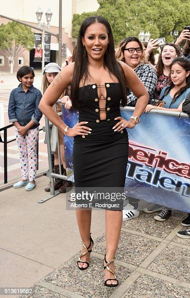 Recording artist Mel B attends NBC's 'America's Got Talent' Season 11 Kickoff at Pasadena Civic Auditorium on March 3 2016 in Pasadena California